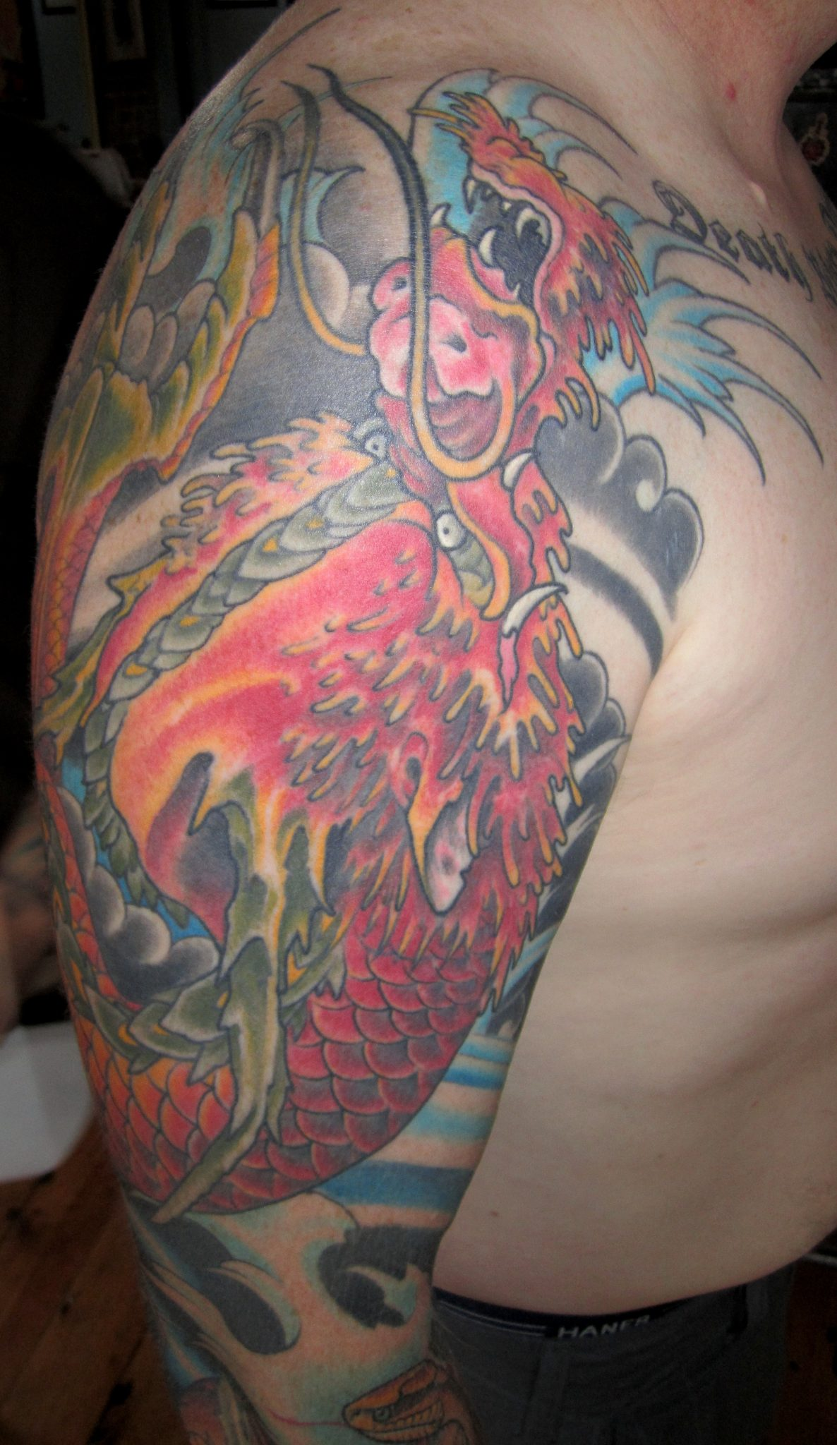 Red Dragon Tattoo by Matt Rousseau
