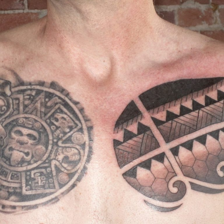 Mayan and Pattern Tattoos by Matt Rousseau