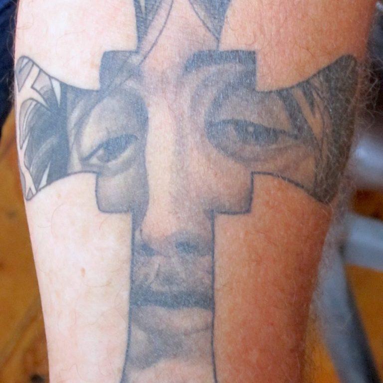 Cross Tattoo by Matt Rousseau