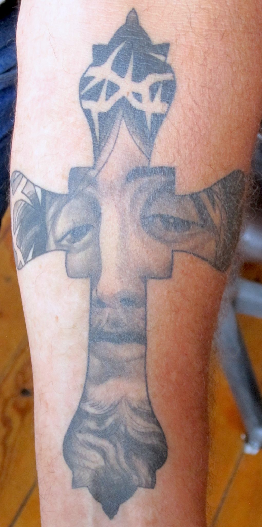 Cross Tattoo by Matt Rousseau