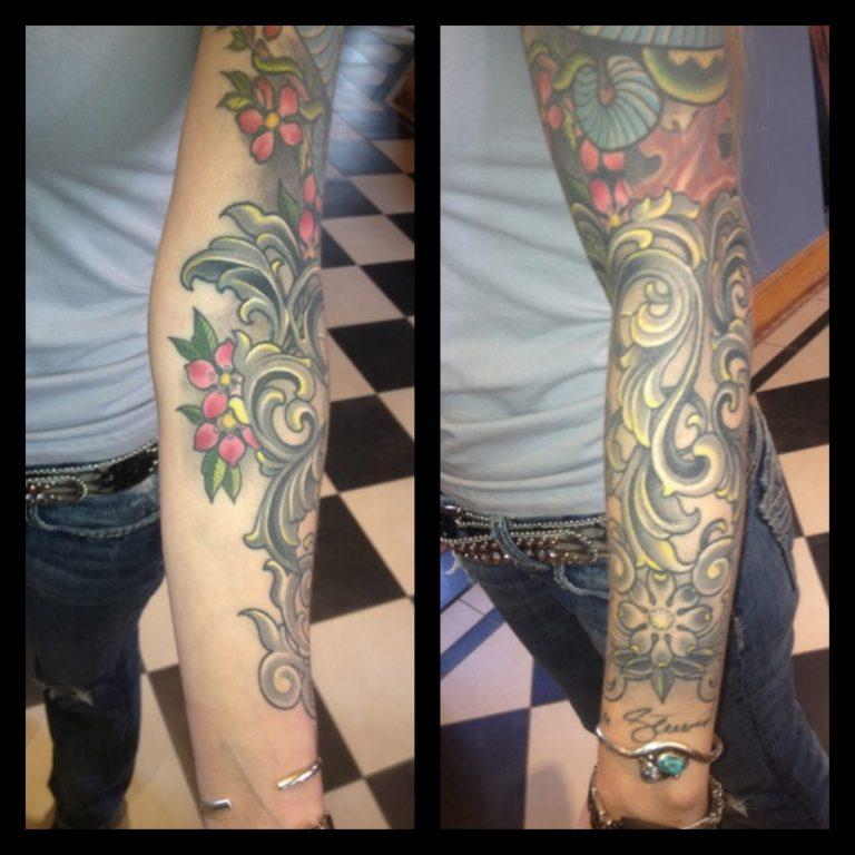 Filigree Tattoo by Matt Rousseau